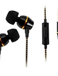 beboncool sobrepeso volume de 3,5 milímetros de graves controlável fone de ouvido estéreo de ouvido com microfone para iphone