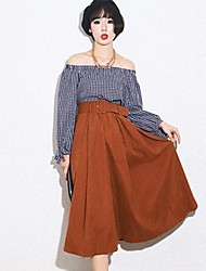 Women's Fashion  Pleated Long Skirts