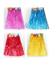 Гавайи танцевать юбка + голова ГСЧ + гирлянды + гирлянды + бюстгальтер Карнавальный костюм (40 см)