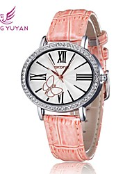 SKONE Fashion Rhinestone Watch Butterfly Trend Women Wristwatch Roma Number