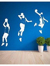 stickers muraux autocollants de mur, contemporain joueurs de basket-ball muraux PVC autocollants (4)