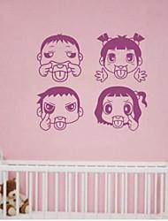 pegatinas de pared linda cara (cuatro hijos)