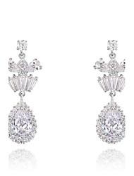 cadeaux roxi classiques autrichiens authentiques shinning eau blanche cristaux de zircon pendentif boucles d'oreilles goutte de femmes (1 paire)