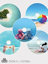 Personalized CD-R/DVD-R Recordable Disc Romantic Pattern Different Designs Magic Gift (Set of 5)