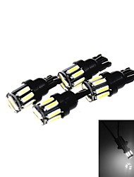 T10 5W 300LM 6500K 10 x SMD 7020 LED Cool White Car Clearance Lamp / Side Light (12V /4PCS)