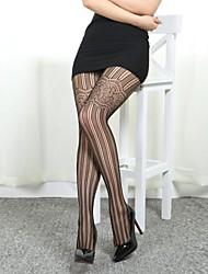 malha sexy moda jacquard meia-calça feminina