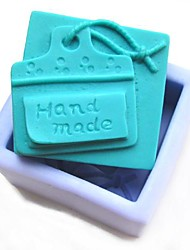 Handmade Tag Shaoed Fondant Cake Chocolate Silicone Mold Cake Decoration Tools,L7.6cm*W6cm*H3.4cm