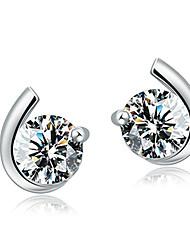 Ohrring Ohrstecker Schmuck Damen Hochzeit Krystall 2 Stück / 1 Paar Silber