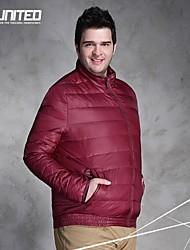 H-United® Men's Plus Size Quilted Jacket/Big Size Men's Light Warm Padded Parka Red/Blue