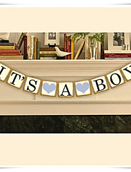 Vintage Chic Baby Shower Banner 'IT'S A BOY' Bunting