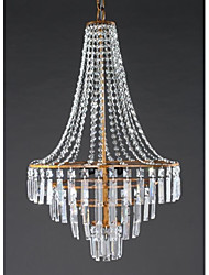 Chandelier ,  Modern/Contemporary Traditional/Classic Rustic/Lodge Lantern Country Retro Antique Brass Feature for Crystal MetalLiving