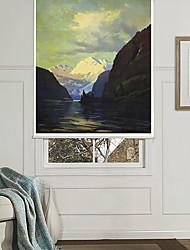 scène onirique de lac et la neige rouleau de montagne ombre