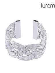 lureme®silver plaqué bracelet net en alliage de forme