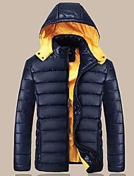 Men's Winter Warm Detachable Cap Slim Down