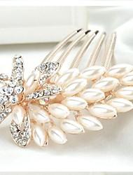 fiori scintillanti lussureggianti con grandi perle e strass pettini