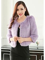 toda rutina de abrigos de piel de las mujeres de la chaqueta de piel de visón (más color)