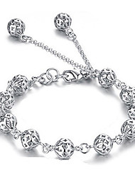 Aimei Women's 925 Silver Fashion Cut Out Bracelet