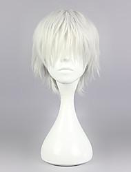 Perruques de Cosplay Tokyo Ghoul Ken Kaneki Argenté Court / Droite Anime Perruques de Cosplay 30 CM Fibre résistante à la chaleur Masculin