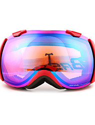 BASTO Red TPU Frame Anti-wear Skiing Snow Goggles