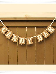 Chic Kraft CANDY BAR Banner Wedding Sweet Table Decor Candy Buffett Banner