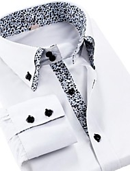 Men's Shirt Collar Double Double Leisure Code Shirt