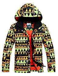 Men's Ski Ski/Snowboard Jackets Waterproof / Breathable / Wearable / Windproof / Thermal / Warm Green / Black / Orange / OthersSkiing /