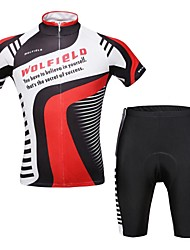 WOLFBIKE Unisex Cycling Clothing Sets/Suits Short Sleeve Bike Summer Breathable / Front Zipper / Back Pocket M / L / XL / XXL / XXXL