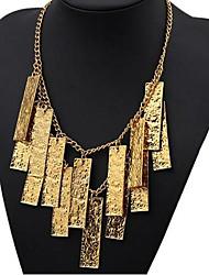 Women's Vintage Tassels Multi-level Alloy Necklace