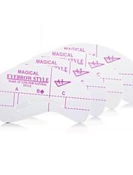 последнее шаблон для бровей Shaper карту для лица макияж (A1 - A4 4 шт)