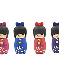 Dibujos animados 8gb usb muñeca japonesa pen drive Flash