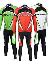Arsuxeo Cycling Long Sleeve Jersey Breathable Suits(Tops + Pants)