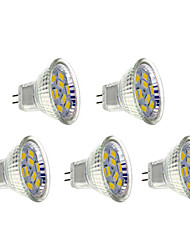 5 pcs GU4 4 W 9 SMD 5730 400-430 LM Warm White Spot Lights AC 12 V
