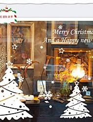 pegatinas de pared de tatuajes de pared, fastive árbol de navidad blanco pegatinas de pared del pvc