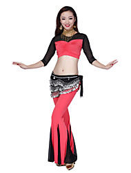 Belly Dance Dancewear Women's Crystal&Tulle Gorgeous Outfits Including Top, Bottom, Belt(More Colors)