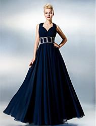ts Couture® robe taille plus / petite une ligne chérie parole longueur chiffon avec fronces / côté drapage