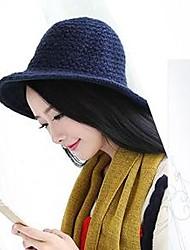 Women's Vintage Crochet Knitting Woolen Solid Pots Hat