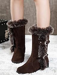 ho&zapatos de moda las botas de nieve de las mujeres ob botas bajas heelmid-becerro