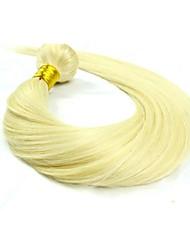 100г # 613 отбеливатель блондинка необработанные бразильский виргинский человеческих волос прямо 100% человеческий волос ткет