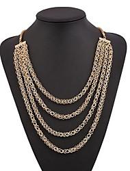 Women's Vintage Tassel Multi-level Alloy Necklace