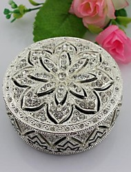 Best Wedding Gifts Alloy Metal Jewelry Trinket Box With Diamond