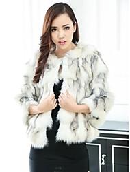 abrigos de piel abrigo de piel de zorro modelos y las importaciones de cuero convencional tigre cruz de las mujeres