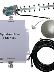 pcs 1900MHz signal de mobile amplificateur de puissance kit antenne booster 500m²