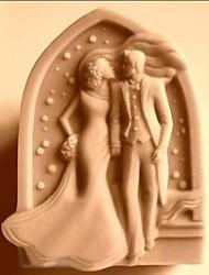 beijo de casamento bolo de fondant em forma de molde de silicone de chocolate