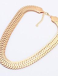 de metal cadeia de temperamento das mulheres boximiya curto colar