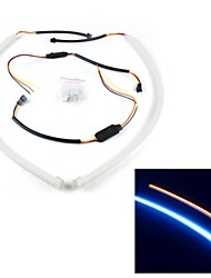 Merdia 8W 200LM High Performance LED Strip Light Daytime Running Light/ Decoration Light(White and yellow/60cm)