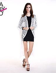 haoduoyi® Women's White Long lace Tassels Solid Color Cardigan