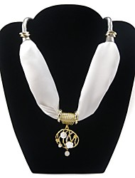 Rainso® Women's Short Snake Chain Emulation Silk Satin Scarf Necklace
