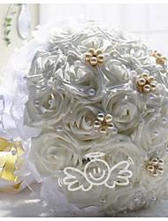 Vente en gros mariage fleurs bouquet de mariée bouquets bouquet de mariage de demoiselle d'honneur fleurs bouquet de mariage artificielle