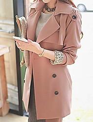 единственной женской корейский тонкий тонкий ветровка пальто