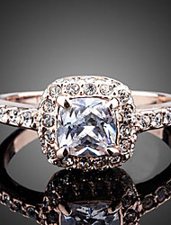 Statement Rings Zircon Cubic Zirconia Simulated Diamond Alloy Fashion Gold Silver Jewelry Wedding Party Engagement 1pc